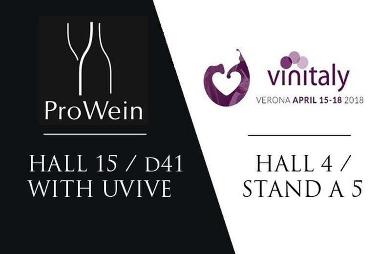 PROWEIN 2018 hall 15 / D41 & VINITALY hall 4 STAND A5
